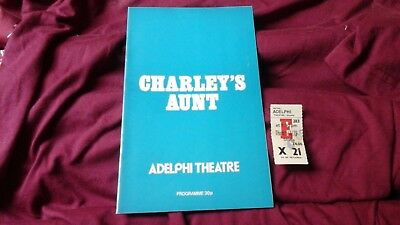 Charleys Aunt - Brandon Thomas -  John Inman   1979 @ Adelphi  + Ticket  = Free