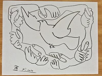 picasso drawing signed