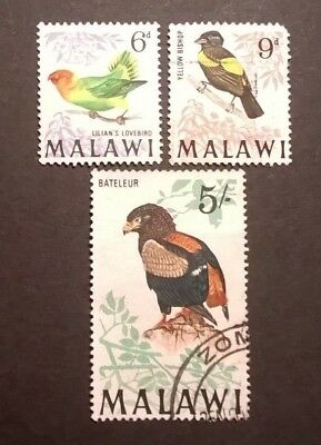 Malawi Stamps - 1968 - Birds - Lot Of 3 - Used