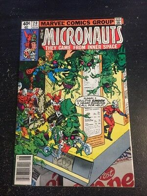 Micronauts#20 Awesome Condition 8.0(1980) Ant-Man App!!