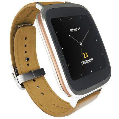 ASUS ZenWatch 4GB 1.2GHz Bluetooth Android Touchscreen Smartwatch Brown Leather