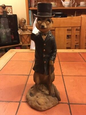 Old Meerkat With Lamp Vivid Arts Garden Ornament