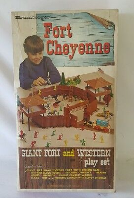 1960s Brumberger Fort Cheyenne complete never played with Giant Weastern Playset