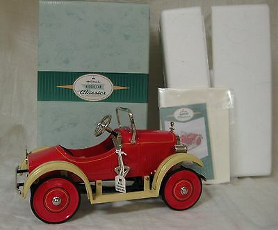 Hallmark Kiddie Car Corner 1926 Steelcraft Speedster w/ Lights, Red, 1998  NIB
