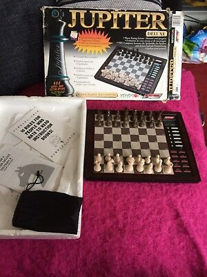 JUPITER Deluxe CHESS COMPUTER Electronic Krypton Systema 72 Level Teaching Learn