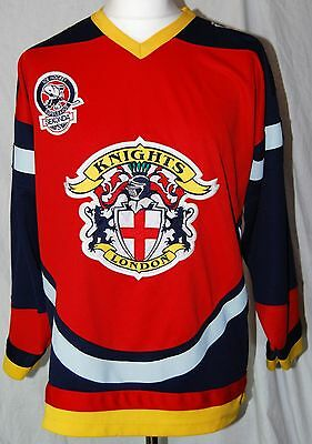 London Knights Vintage Sewn Jersey Official Size Medium