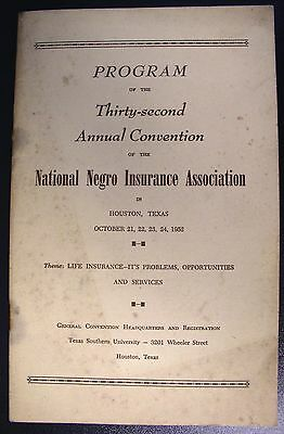 Program of the 32nd annual convention National Negro Insurance Association -1952