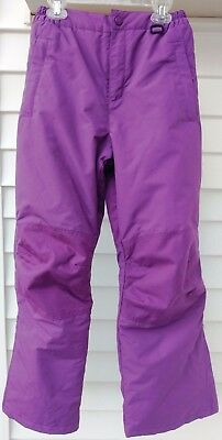 Lands End Girls SQUALL Snow Ski Pants Purple Youth Size 12 Pre-Owned Excellent