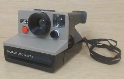 Vintage Polaroid 500 Instant Film Camera Uses SX-70 Film Tested Working
