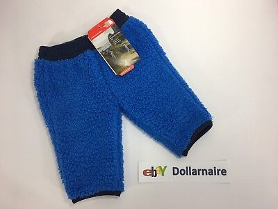North Face Baby Infant Plushee Pants 12-18 Months Jake Blue NEW $40
