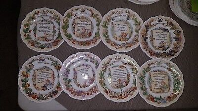 "Royal Doulton Brambley Hedge ""Recipe"" Plates"