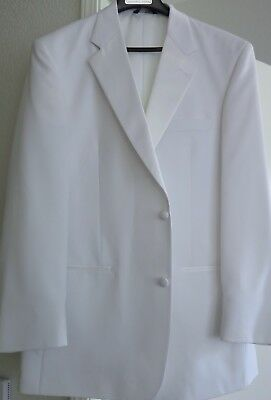 White Dinner Jacket with Satin Notched Lapel