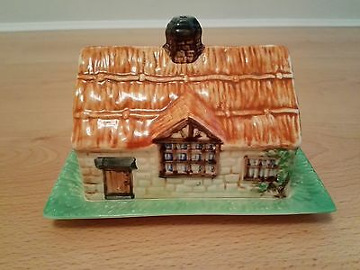 VINTAGE BESWICK WARE BUTTER DISH THATCHED COTTAGE numbered 273, Made in England