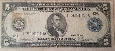 5 dollar federal reserve note series 1914