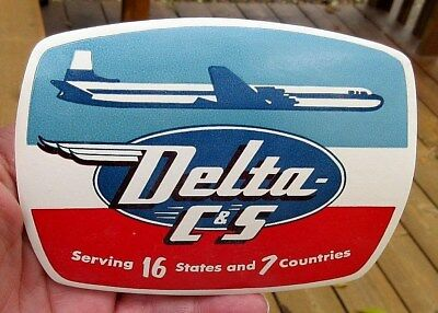 Vintage Delta C&s Airlines Luggage Label