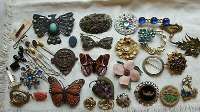 ESTATE Lot of Antique & Vintage Brooches, Pins