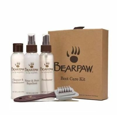 NEW Bearpaw 4 pc Boot Care Kit Stain Repellent, Cleaner/Conditioner, Freshener,
