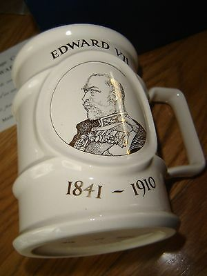 Holkham Pottery  Ltd  Edward Vll  Commemorative Tankard  No  914 of 1000