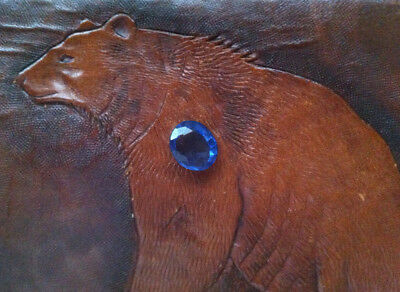 Lab. Sapphire - 5,75 carat - Oval cut - Ready for setting