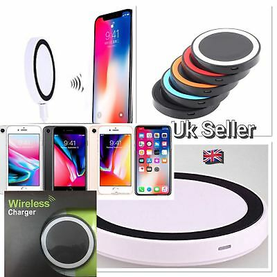 Qi Wireless Charger charging Pad for Samsung Galaxy Apple iPhone 8 8Plus X