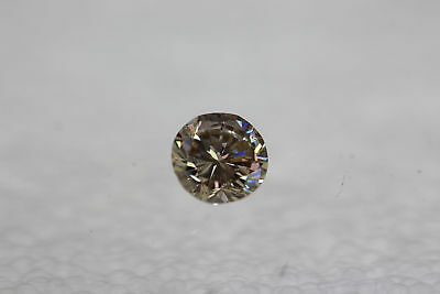 Cert 0.51 Intense Brown VS1 Round Brilliant Enhanced Natural Diamond 5.07mm 3VG