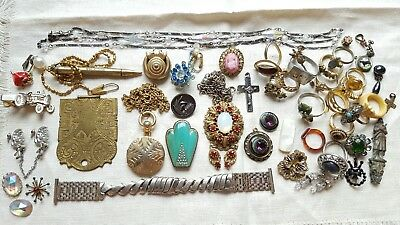 ESTATE Lot of Antique & Vintage Collectible Jewelry & Baubles