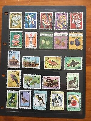 23 Used Stamps From Vietnam
