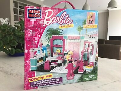 Mega Bloks Barbie Fashion Boutique 107 pieces - ONLY USED ONCE