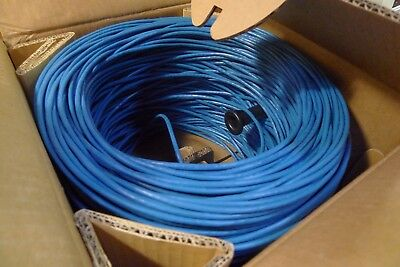 Network Cable Blue CAT-5E 1000' Foot Roll - NEW  }