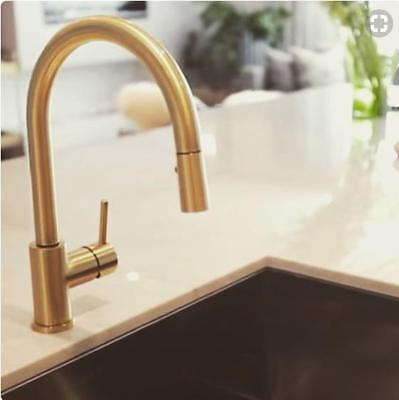 Burnished Rose gold copper Matte Black stainless steel kitchen mixer tap NEW