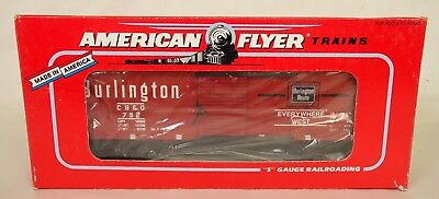 American Flyer #6-48478 Nasg1992 Commemorative Burlington Box Car-New In Box!