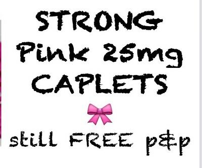 }50x STRONG Sleeping pills Aid TABLETS 25mg PINK Caplet 🎀 RELIABLE & DISCREET!!