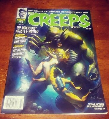 THE CREEPS MAGAZINE ISSUE #11 ILLUSTRATED HORROR FALL 2017 The World Best Artist
