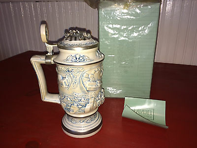 1989 Avon Racing Car Lidded Stein in Box!!