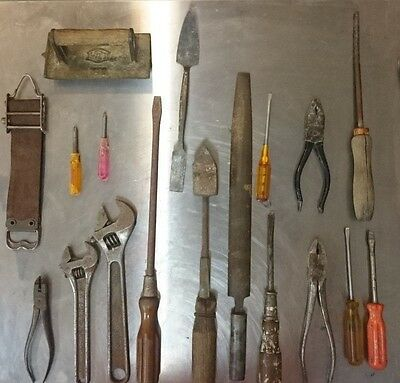 Lot of 18 Vintage Tools All included in the sale (EXCEPT LEATHER STRAP)