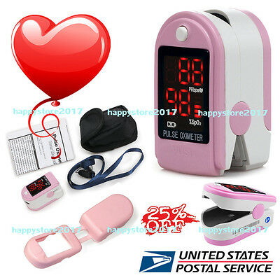 CMS50DL US Fingertip Blood Oxygen Meter SPO2 Pulse Heart Rate Monitor Oximeter