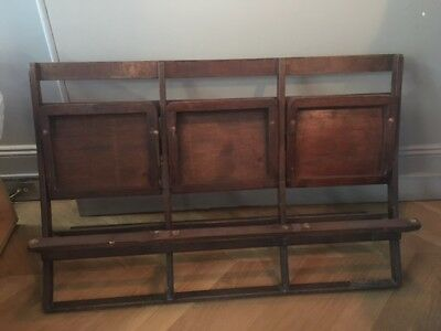 Vintage Wooden 3 Seat Bench