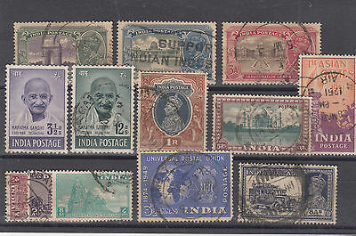 INDIA Small Coll GV-GV Includes 2 Gandhi Items FINE USED