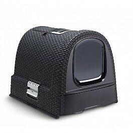 Maison Toilette Curver Petlife Litter Box Anthracite