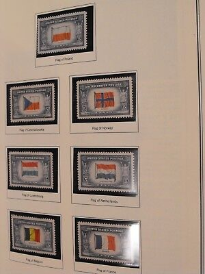1943-44 Overrun Countries Series, #909-#921, 13 Mint Never Hinged stamps, No Res