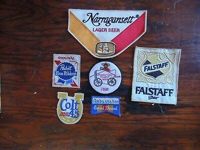 Vintage Beer Patches - 6 Patch Lot