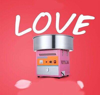 New Pink Commercial 1000W Fairy Floss Maker Electric Cotton Candy Machine*
