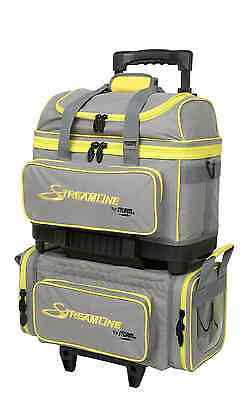 Storm 4 Ball Streamline Bowling Bag Color Grey/Yellow NEW