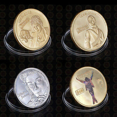WR Michael Jackson Gold/Silver Coin Set King of Pop Music Fans Collectibles Gift
