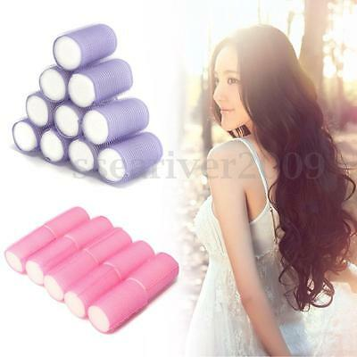 Pretty 10Pack Soft Hair Rollers PerfectSleeping In Curling Accessory New Brand