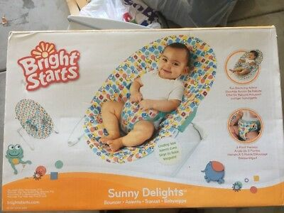 Aus Qlty Bright Starts Baby Soothing Bouncer/Rocker