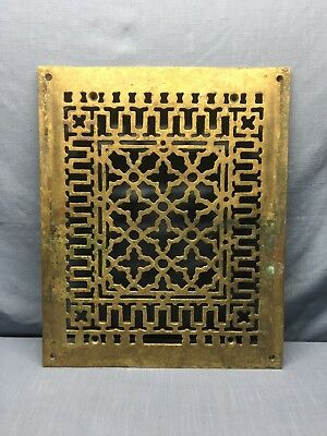 """Antique AAB Co.  Solid Brass Antique Grate Vent Cover 20"""" x 16 1/2"""" BEAUTIFUL"""