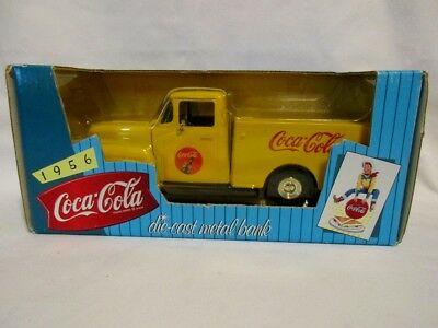 Coca Cola Die Cast Bank 1956 Truck in box