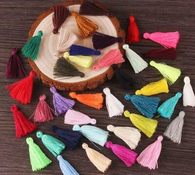 50pcs Mixed color Small Cotton Thread Tassel Charm Pendant Tassels Jewelry 30mm