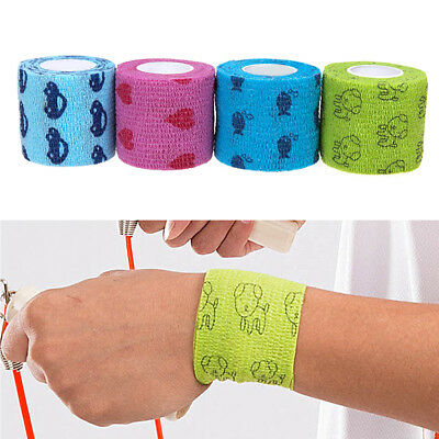 5M Dog Cat Horse Pet Wound Vet Wrap Cohesive Non-woven Self Adherent Bandage New